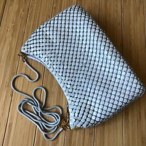 Vintage White Metal Chainmail Mini Purse Bag NWOT